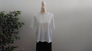 Short Sleeve Sweater white cotton