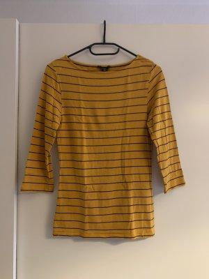 Amisu Sweater met korte mouwen goud Oranje-zwart