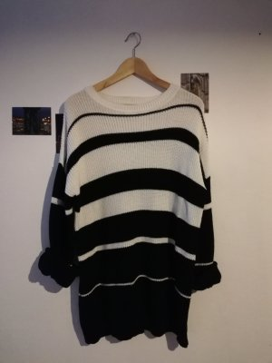 24 colours Coarse Knitted Sweater white-black