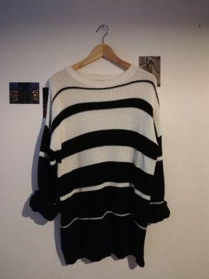 24 colours Jersey de punto grueso blanco-negro