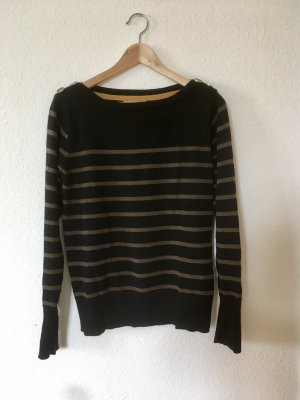 Edith & Ella Wool Sweater black-khaki