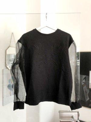 Pullover mit Transparent Ärmeln