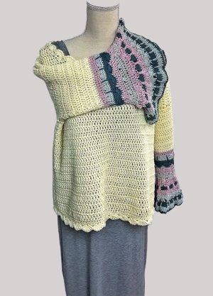 Szydełkowany sweter kremowy Bawełna