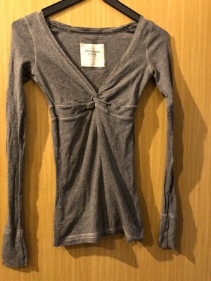 Abercrombie & Fitch Sweat silver-colored-grey cotton