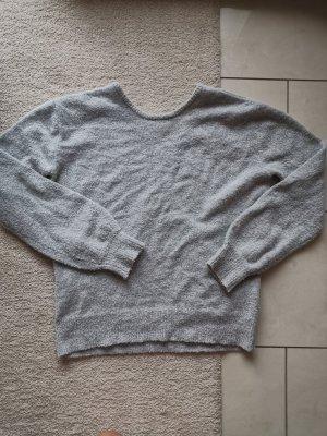 Pullover mit V Ausschnitt am Rücken