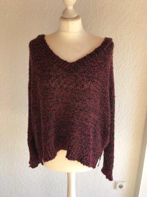 Pullover mit V-Ausschnitt oversized ASOS S
