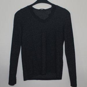 Pullover mit V-ausschnitt und Spitze