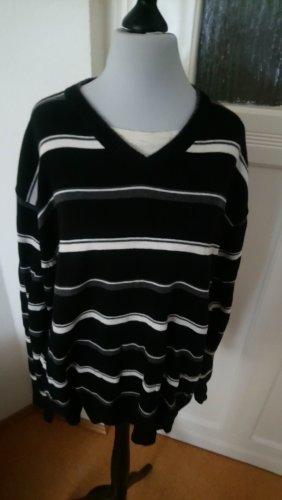Pullover mit V-Ausschnitt und Streifenmusterung - Größe 38