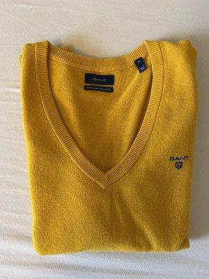 Pullover mit V-Ausschnitt von Gant aus Super Fine Lambswool
