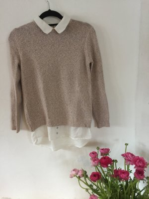Atmosphere Sweater Twin Set dusky pink-white
