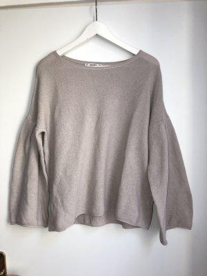 Pullover mit weiten Ärmeln in Taupe