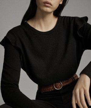 Massimo Dutti Maglione lavorato a maglia nero