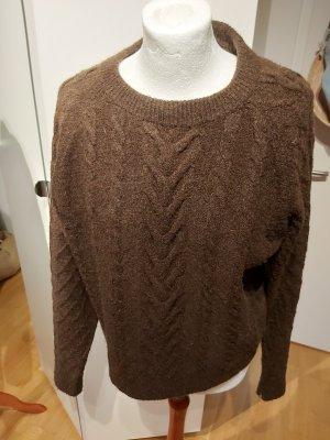 H&M Jersey trenzado marrón-marrón-negro