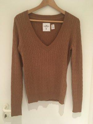 Pullover mit Zopfmuster in camel von H&M in Größe 38 (M)
