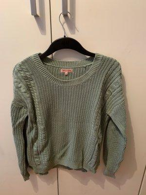 Pullover mit Zopfmuster von Review