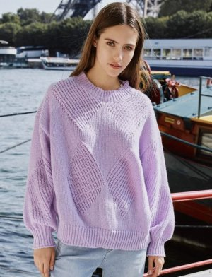 Knitted Sweater purple-lilac