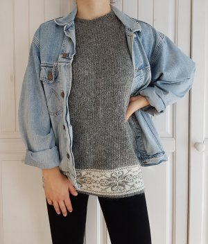 Pullover Mohair Mohairwolle Pulli Angora Angorawolle Wolle True Vintage Oversize Grau Grey Strick