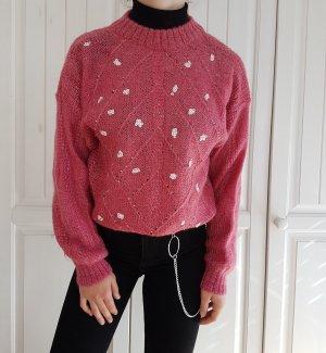 Vintage Oversized Sweater pink-pink angora wool