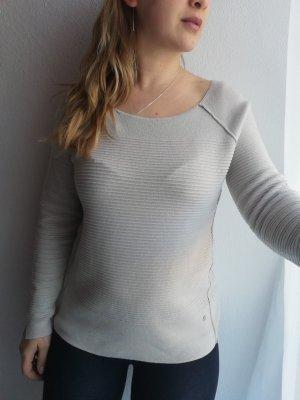 Monari Maglione girocollo grigio chiaro-bianco sporco
