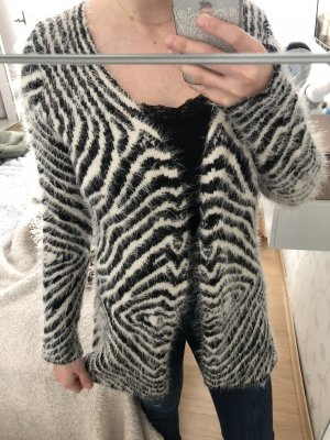 Crochet Cardigan white-black