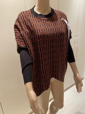 M & V Sweter oversize cognac-czarny