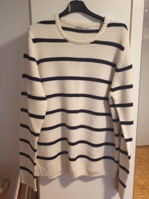 Bershka Robe pull blanc-noir