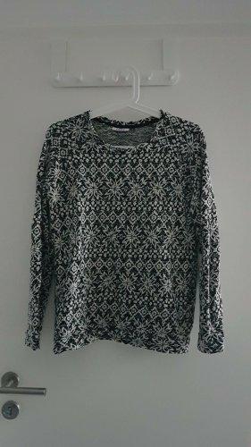Pullover Norwegerpullover Winterpullover Weihnachtspullover Vero Moda S schwarz weiß