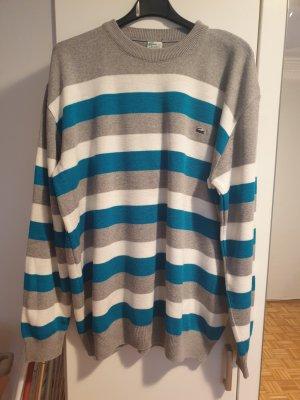 Robe pull blanc-bleu clair