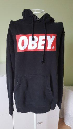 Pullover OBEY in Schwarz mit weiß/rot Aufdruck