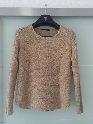 Only Crochet Sweater gold-colored