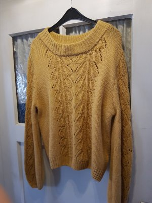 Blind Date Coarse Knitted Sweater sand brown