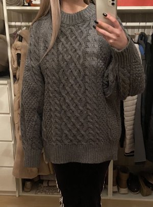 Pullover Oversize Zopfmuster