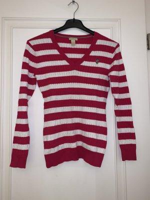 Pullover pink-weiß