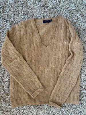 Polo Ralph Lauren V-Neck Sweater camel wool
