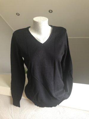 Biaggini Sweter z dekoltem w kształcie litery V czarny