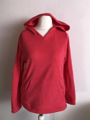 Pullover Pulli Fleece warm mit Kapuze hellrot Gr. M