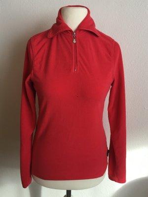 Pullover Pulli Fleece warm Rollkragen rot Gr. 38