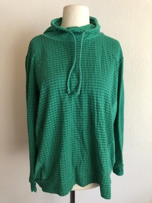 Laura Torelli Oversized Sweater forest green-white