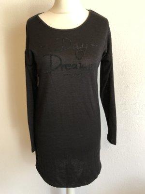 Pullover Pulli Longpullover schwarz leicht
