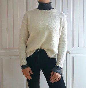 Pullover Pulli Mango S weiß white Oberteil Top weich sweater nude beige creme