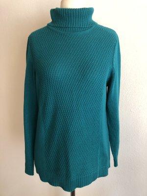 Pullover Pulli mit Rollkragen grün Gr. 42