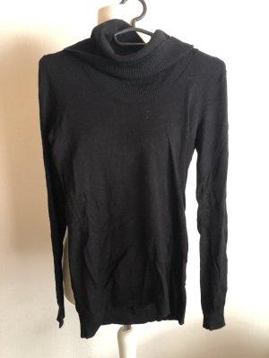 Pullover Pulli Rollkragen dünn schwarz Basic Gr. XS