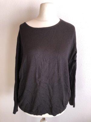 Pullover Pulli schwarz Basic oversized Gr. 34