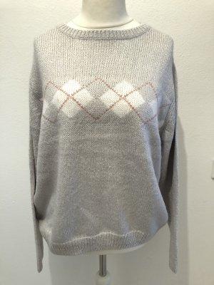 Pullover Pulli Strickpullover grau locker Gr. L NEU mit Etikett