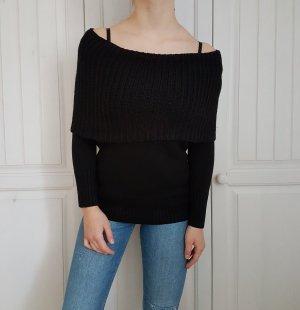 Pullover Pulli Strickpullover strickpulli strick schwarz kleid strickkleid schal rollkragen
