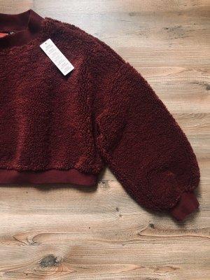 Pullover   Pulli   Sweater   Teddyfell   Crop   NEU