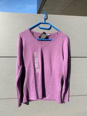 Pullover Pulli V Ausschnitt lila flieder Gr. S neu mit Etikett