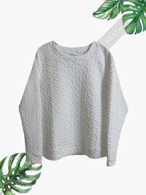 Pullover Pulli weich weiß geprägt warm Pullunder elegant unisex sporty | jake*s | M