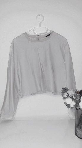 Pullover pulli weiß kunstleder cropped oversized