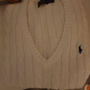 Ralph Lauren Sweter z dzianiny biały